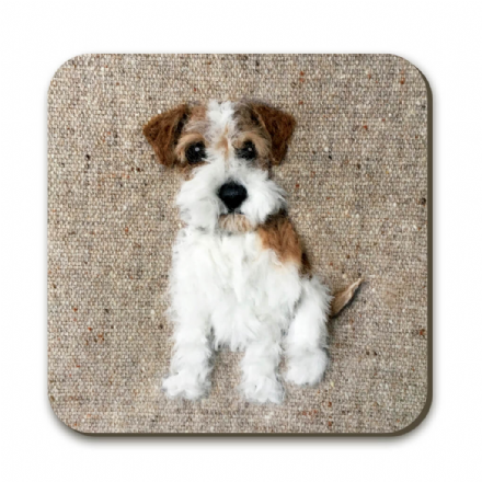 Rough Haired Jack Russell Coaster by Sharon Salt